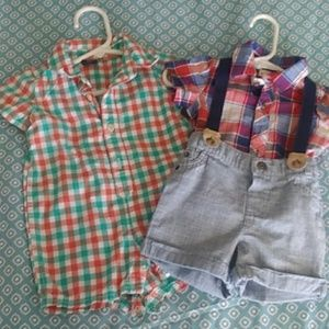 Suspender Baby Outfit and Gap